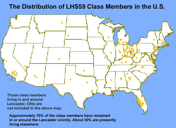 LHS Map Of Member Distribution In US Class Of Lancaster - Us 30 ohio map